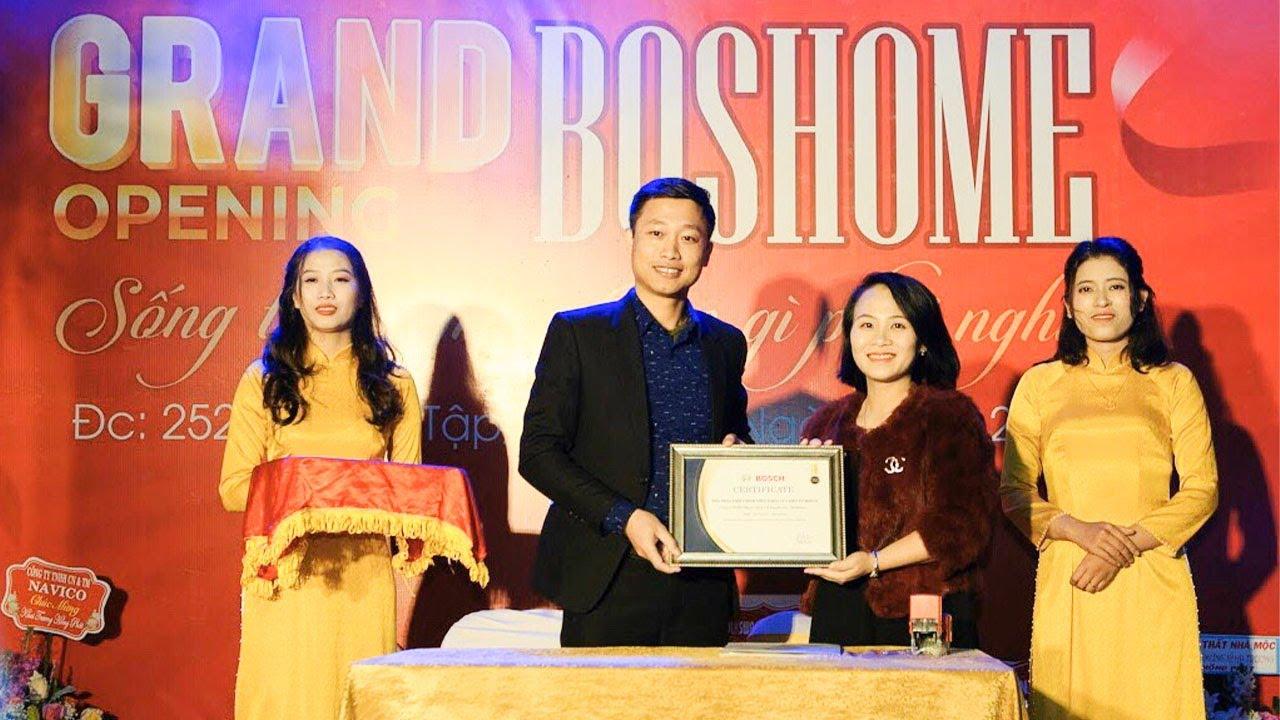 BOSHOME KHAI TRƯƠNG trở thành Đại Lý của Hanoibuil SP khóa cửa điện tử Bosch ||Bosch SmartLock