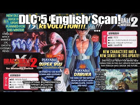Xenoverse 2 DLC 5 Scan English Translation! Getting more than we expected?