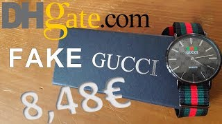 Unboxing FAKE GUCCI WATCH DHgate
