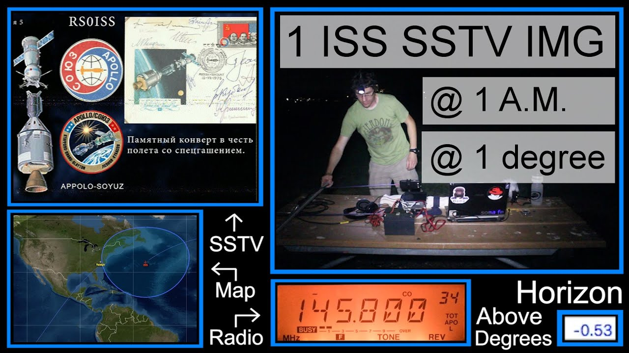 ISS SSTV Image at 1 Degree Above The Horizon!
