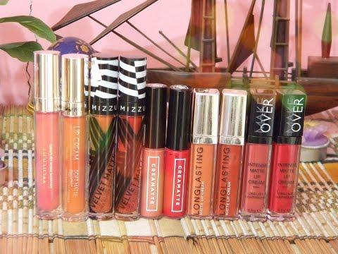 6-local-liquid-lipstick-under-100k-(arms-&-lips-swatch)-|-#kosmetiklokalindonesia-pt.3❀