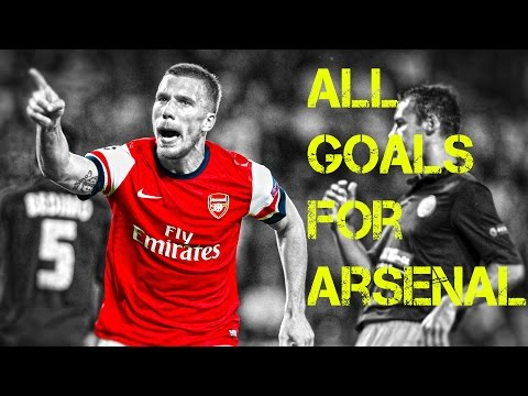 Lukas Podolski ● All Goals for Arsenal 2012-2015 ||HD||