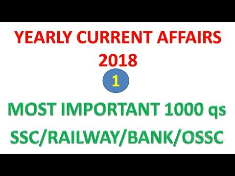 YEARLY CURRENT AFFAIRS 2018 PART-1