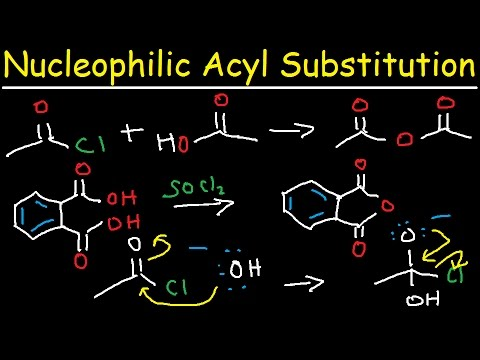 Nucleophilic Acyl Substitution Reaction Mechanism - Carboxylic Acid Derivatives, Organic Chemistry