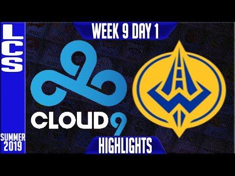 C9 vs GGS Highlights | LCS Summer 2019 Week 9 Day 1 | Cloud9 vs Golden Guardians