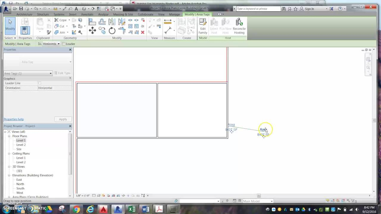 Revit Finding Square Footage Of House Youtube