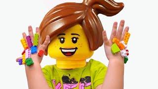 يعلق ليغو في الوجه واليدين !! Mainile si fata LEGO