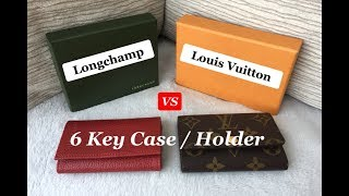 Louis Vuitton VS Longchamp 6 Ring Key Case / Holder   Comparison