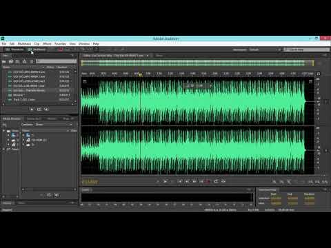 Hướng Dẫn Thu Âm Mix Nhạc bằng Adobe Audition CS6 – Bài 1