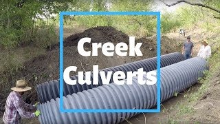 Culverts Installed In The Creek!