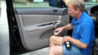 How to Toyota Camry Front Door car Speaker Removal 2002-2006 replace repair