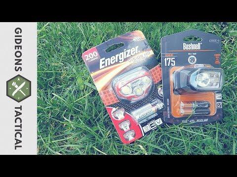 Best $15 Wal-Mart Headlamp? Bushnell Vs. Energizer