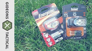 Best $15 Wal-Mart Headlamp? Bushnell Vs. Energizer