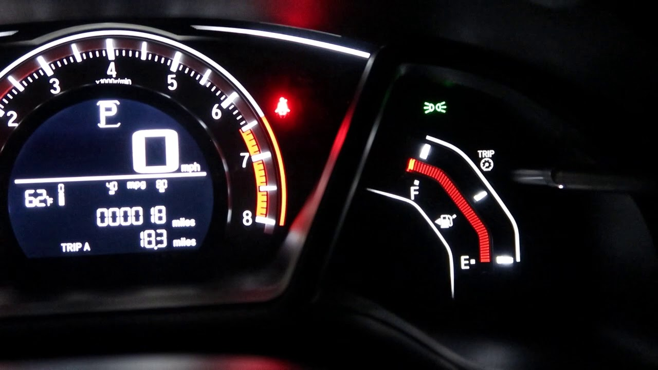 honda civic hatckback  night dashboard indoor light trick youtube