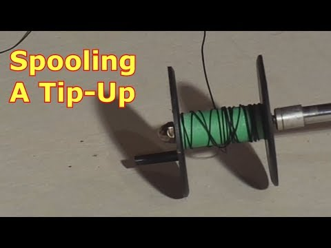 Ice Fishing - Spooling A Tip-Up