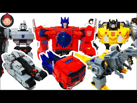 Transformers Toys Cyberverse Power Of The Spark Optimus Megatron Grimlock Ultimate Class Unboxing
