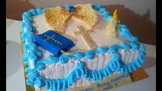 Торт на крестины Как украсить торт для мальчика Cakes for christenings