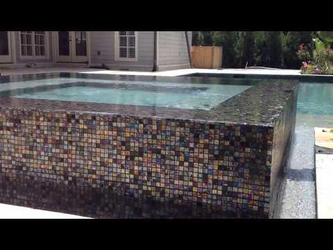 360 Degree Infinity Edge Glass Tile Spa