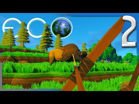 ECO: HUNTING, COOKING, & FINDING PLANT FIBER! | Eco Early Access Gameplay E2