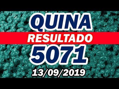 Quina 5071- Resultado da Quina (13/09/2019)