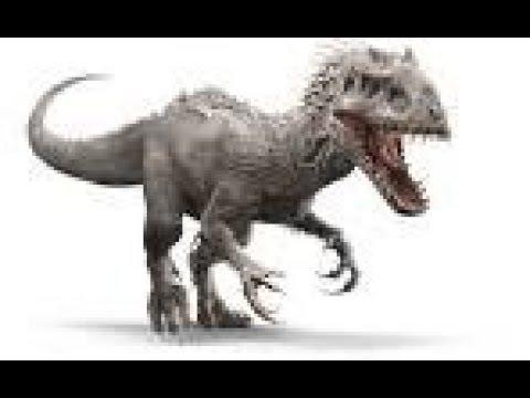 je dessine l'indominus rex jurassic world - YouTube