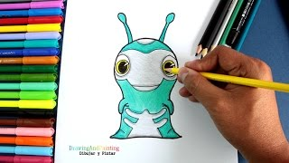 How to draw SPOOKER Frightgeist (Slugterra) | Cómo dibujar Babosa Terror de Bajoterra