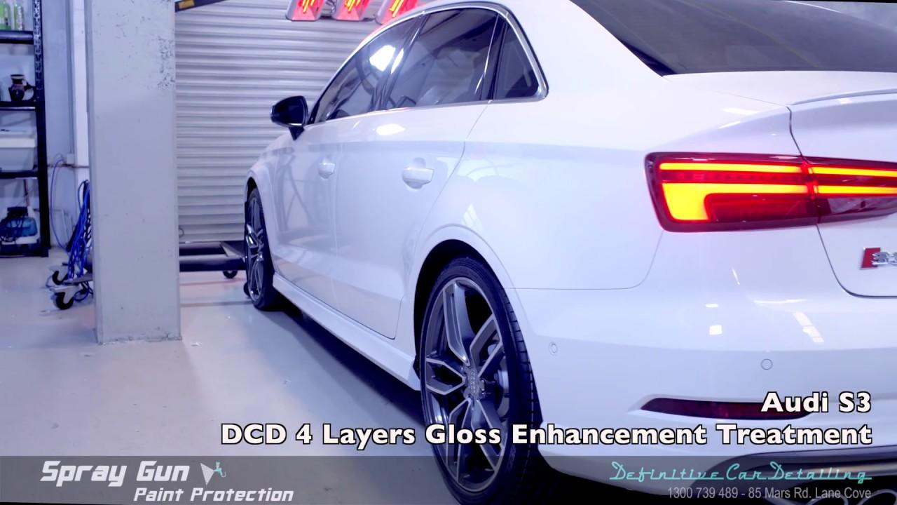Audi S3 Glacier White Definitive Sydney Spray Gun 4 Layers Paint Protection Gloss Enhancement Treatm