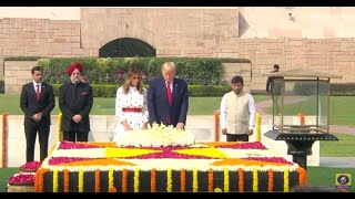 US President Donald Trump & First Lady Melania Trump Visit Rajghat