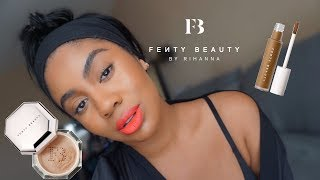 FENTY BEAUTY CONCEALER & SETTING POWDER REWIEW + WEAR TEST | zoerudd
