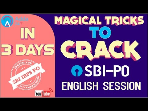 SBI PO PRE 2017 |  Magical Tricks to Crack English in  3 Days I Online Coaching for SBI IBPS Bank PO