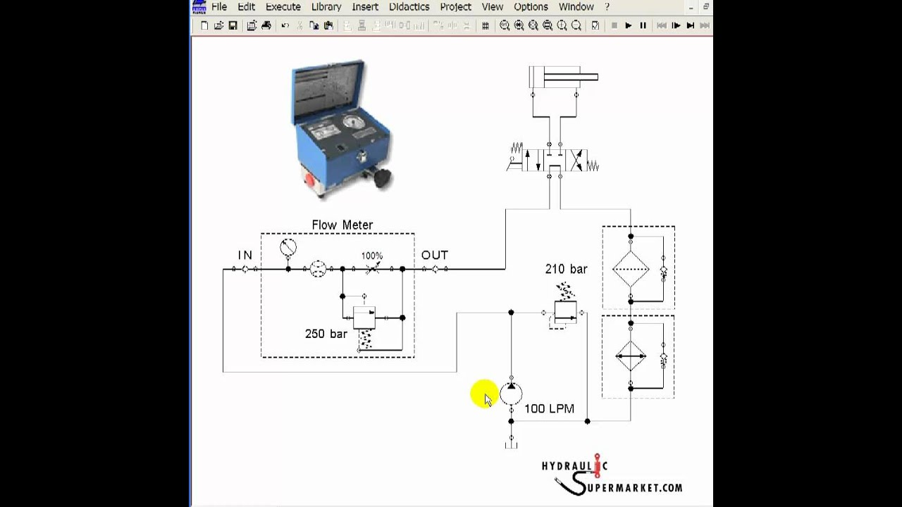 How to use a flowmeter when hydraulic troubleshooting youtube ccuart Images