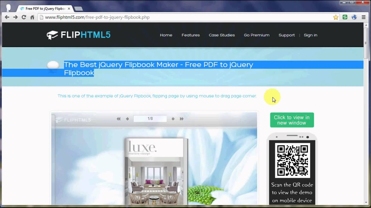 Free PDF to jQuery Flipbook, jQuery Flip Page Sodtware Download Free