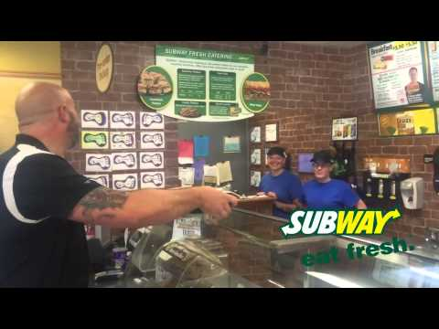 Subway Mobile App {FUNNY AD} K 105 3 Jacksons HIT Music
