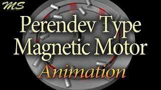 Perendev Type Magnetic Motor - Animation