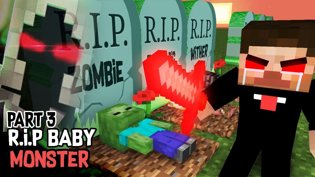 Monster School : RIP ALL  BABY Monsters Part 3 (Sad story) - Herobrine vs Entity 303