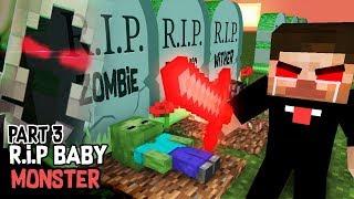 Monster School : RIP ALL  BABY Monsters Part 3 (Sad story) - Herobrine vs Entity 303