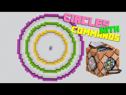How To Make Circles Using Command Blocks In MINECRAFT-BETTER TOGETHER- XB1 WIN10 PE