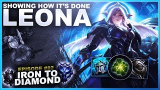 How to Win Lane with LEONA! - Iron to Diamond   League of Legends