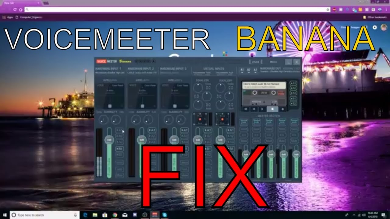 VOICEMEETER BANANA YOUTUBE FREEZING FIX 2018!