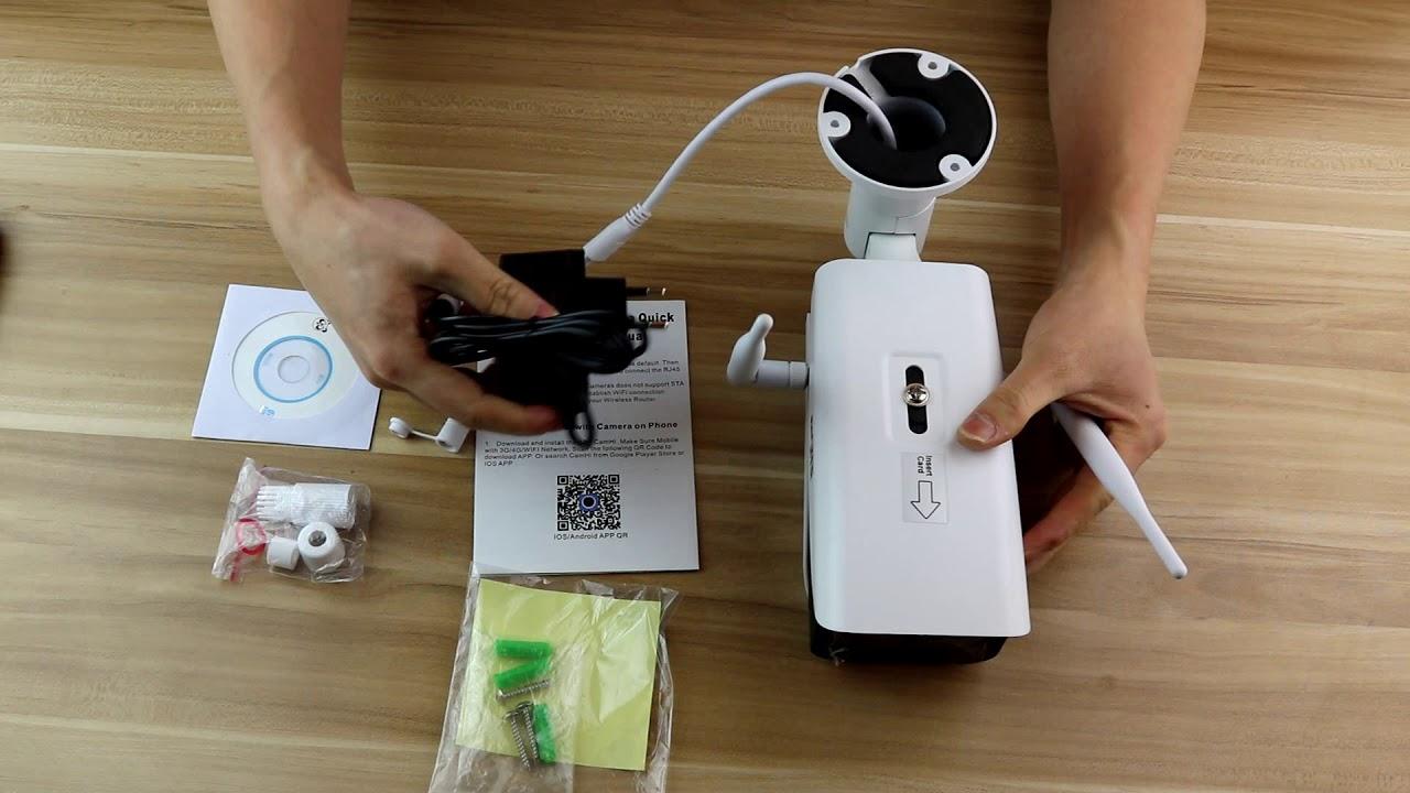 ENSTER Wireless 4G SIM Card IP Camera 6562 - YouTube