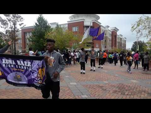 Edna Karr High School Marching Band on the JSU Plaza - 2017 JSU Homecoming Parade