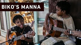 Every weekend on the pavements of Maboneng, 12-year-old Biko and her brother 9-year-old brother Manna attract crowds with their talented musical performances. Here is their story.