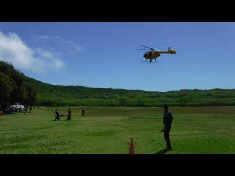 Real rescue in Diamond Head Crater; Honolulu, Oahu, HI.