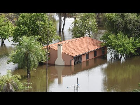Severas inundaciones en Sudamérica