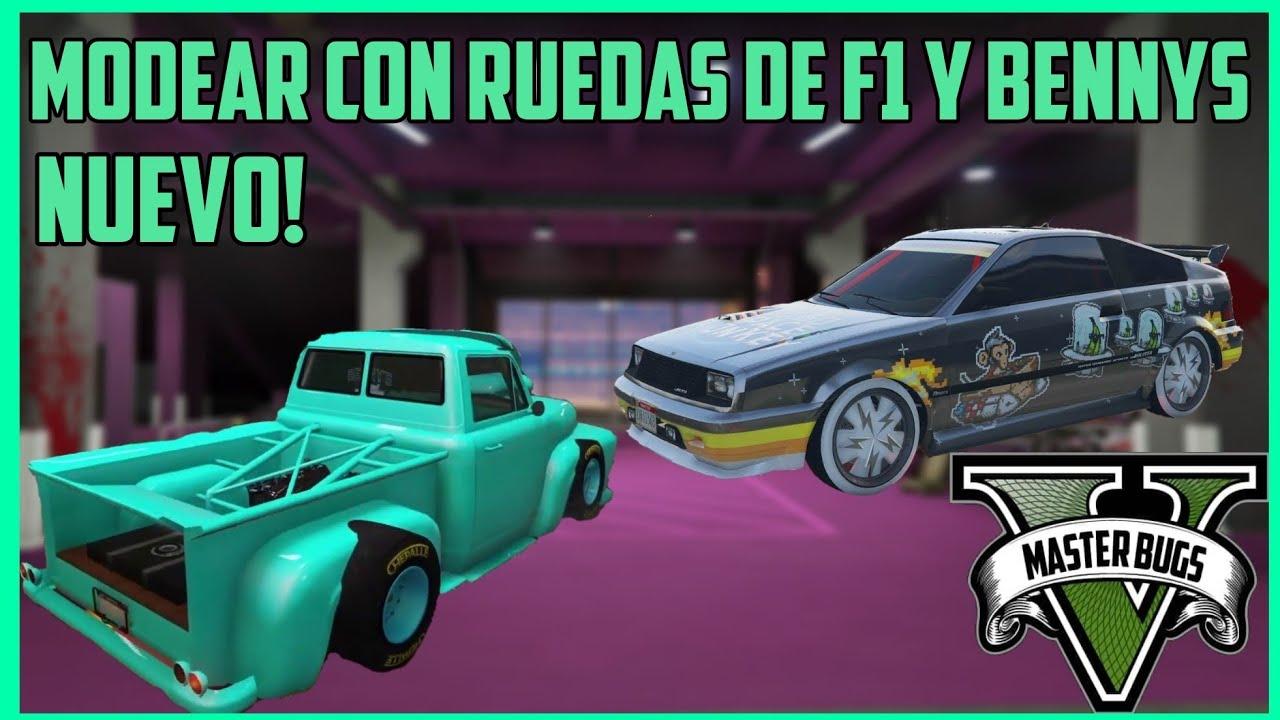 NUEVO! COMO MODEAR COCHES CON RUEDAS DE F1 Y BENNYS | GTA 5 | PS4 |