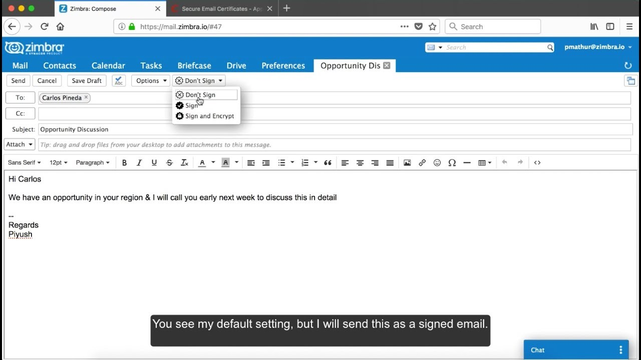 Did You Know? Sign & Encrypt Your Zimbra Mail with S/MIME