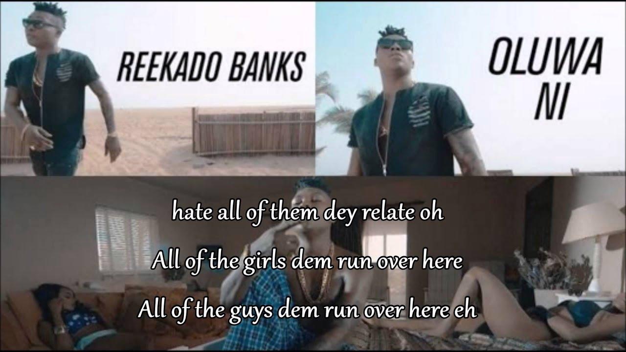 Download Reekado banks - Oluwa Ni [Official Lyrics Video]