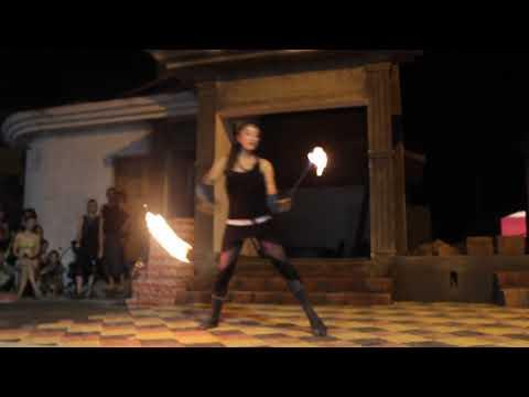Fire Poi Performance @ Chapora GOA 2018