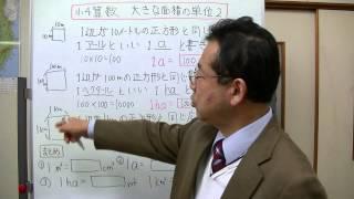 面積の単位で、アール、ヘクタール、平方キロメートルについて説明しま...