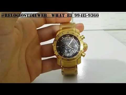 c9604cfa5ee Review relógio bvlgari iron man ouro a bateria - YouTube
